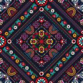 Hagyományos magyar hímzés ihlette varrat nélküli mintázat
