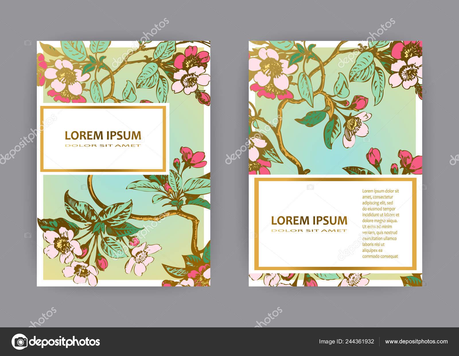 Diseño Plantillas Tarjeta Invitación Boda Botánico Dibujado