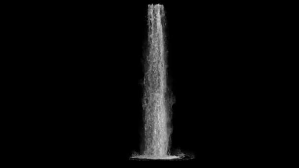 pohled z vodopádu na černém pozadí