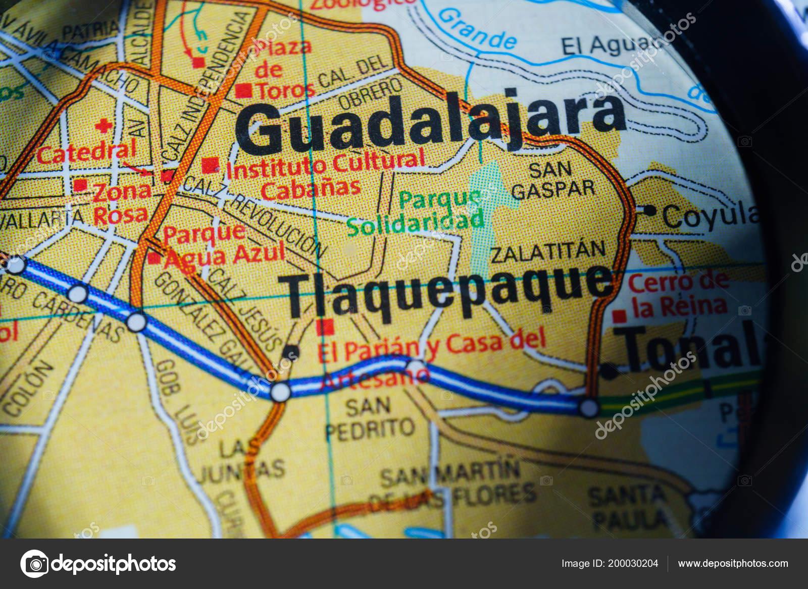 Guadalajara Mexico Mapa Foto De Stock C Aallm 200030204