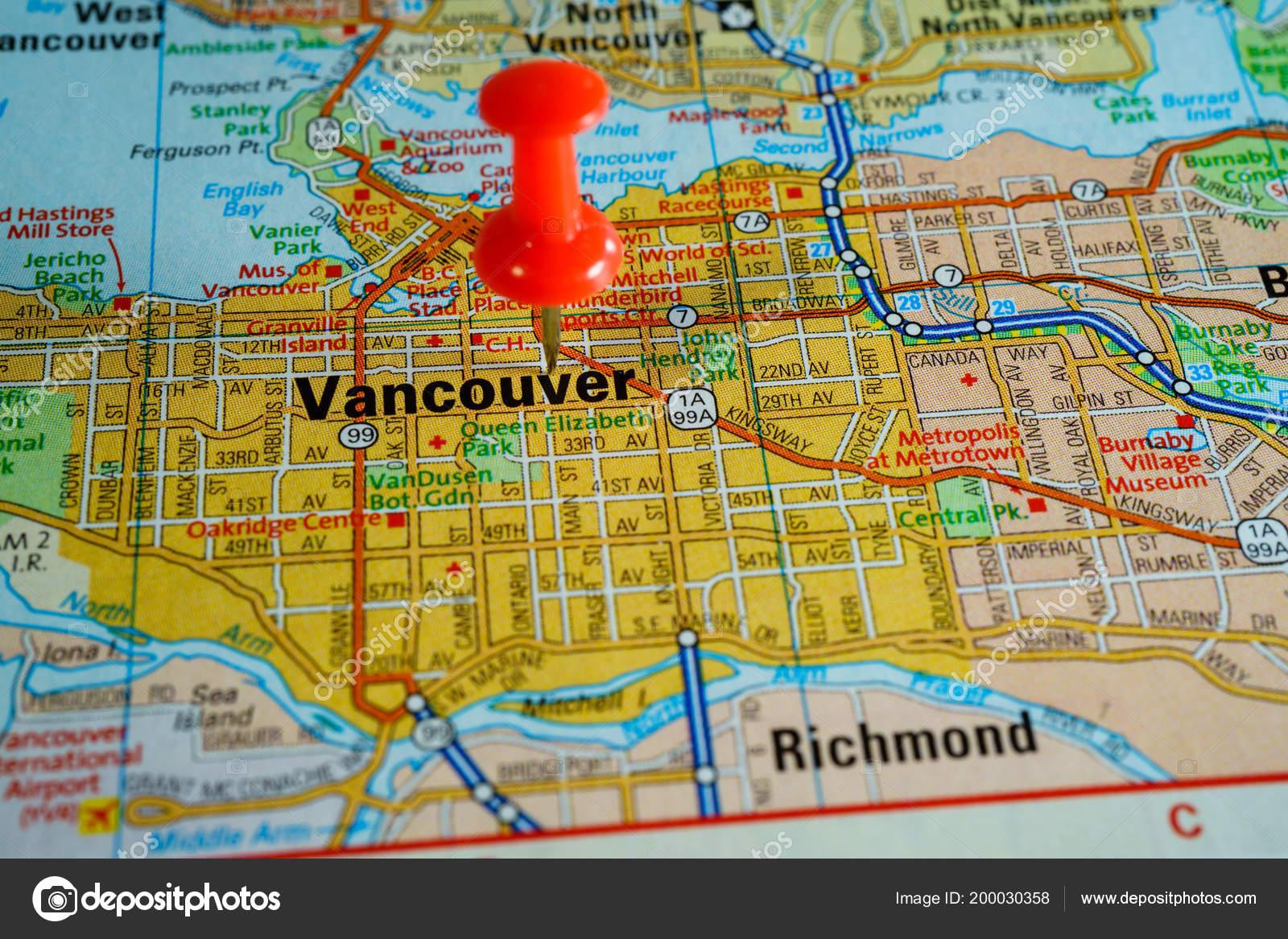 Vancouver Canada Map Stock Photo C Aallm 200030358