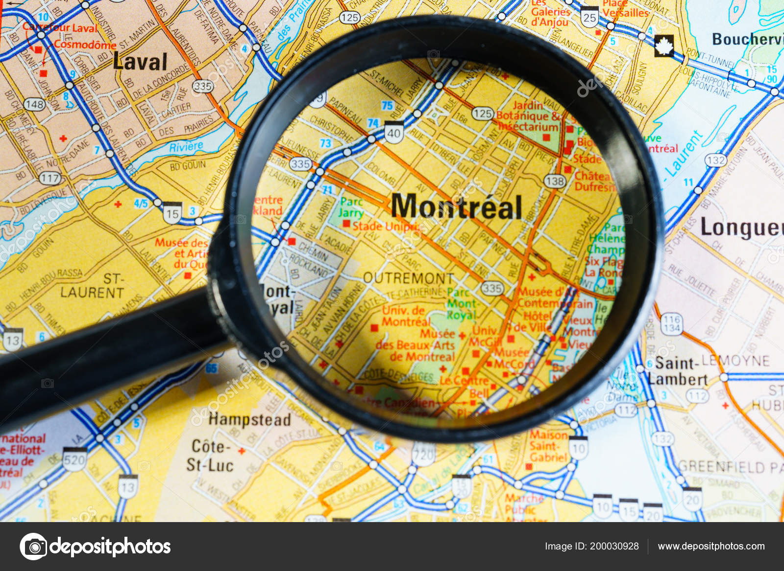 Canada Map Montreal.Montreal Canada Map Stock Photo C Aallm 200030928