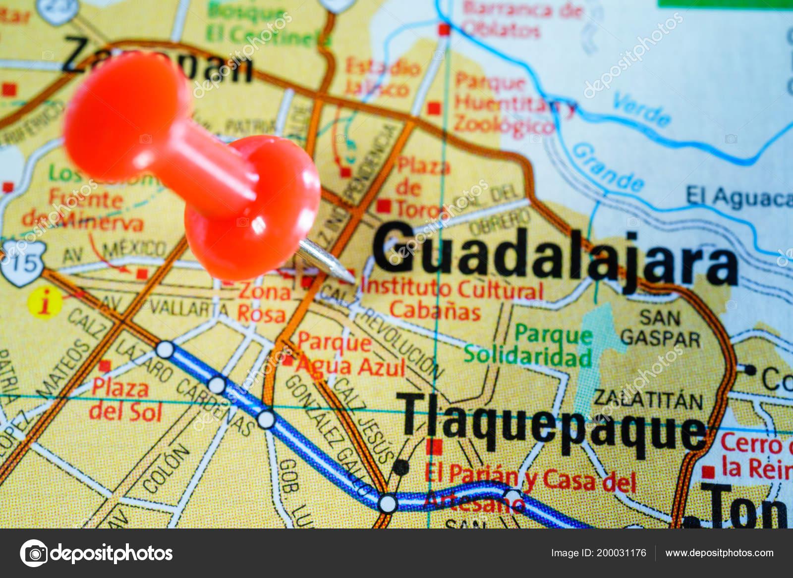 Guadalajara Mexico Mapa Foto De Stock C Aallm 200031176