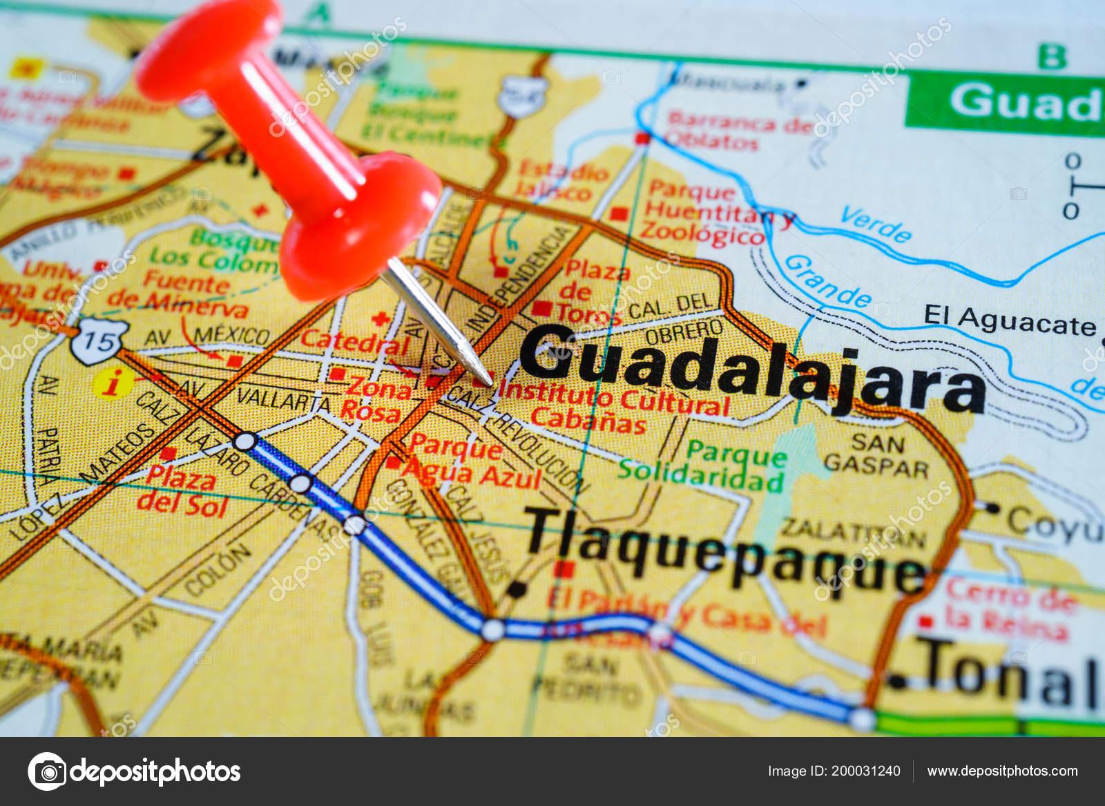 Guadalajara Mexico Mapa Foto De Stock C Aallm 200031240