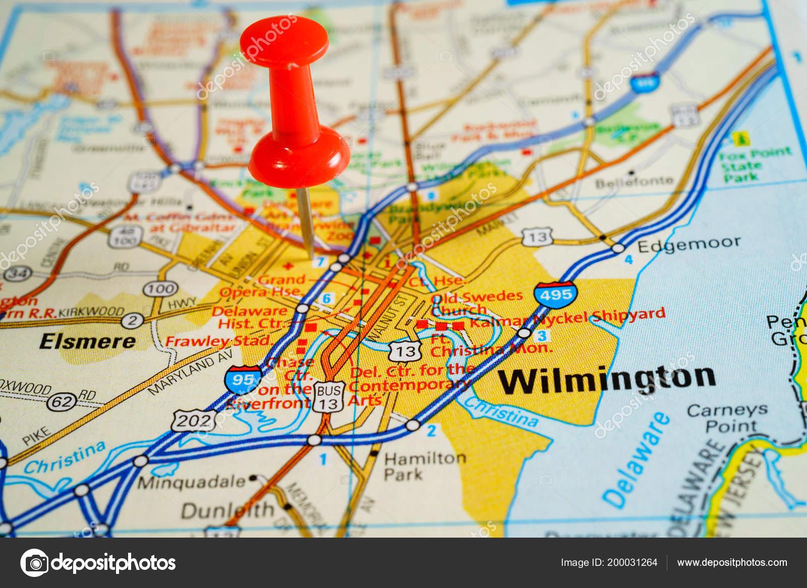 Amerika Karte Staaten.Wilmington Vereinigte Staaten Von Amerika Karte Stockfoto