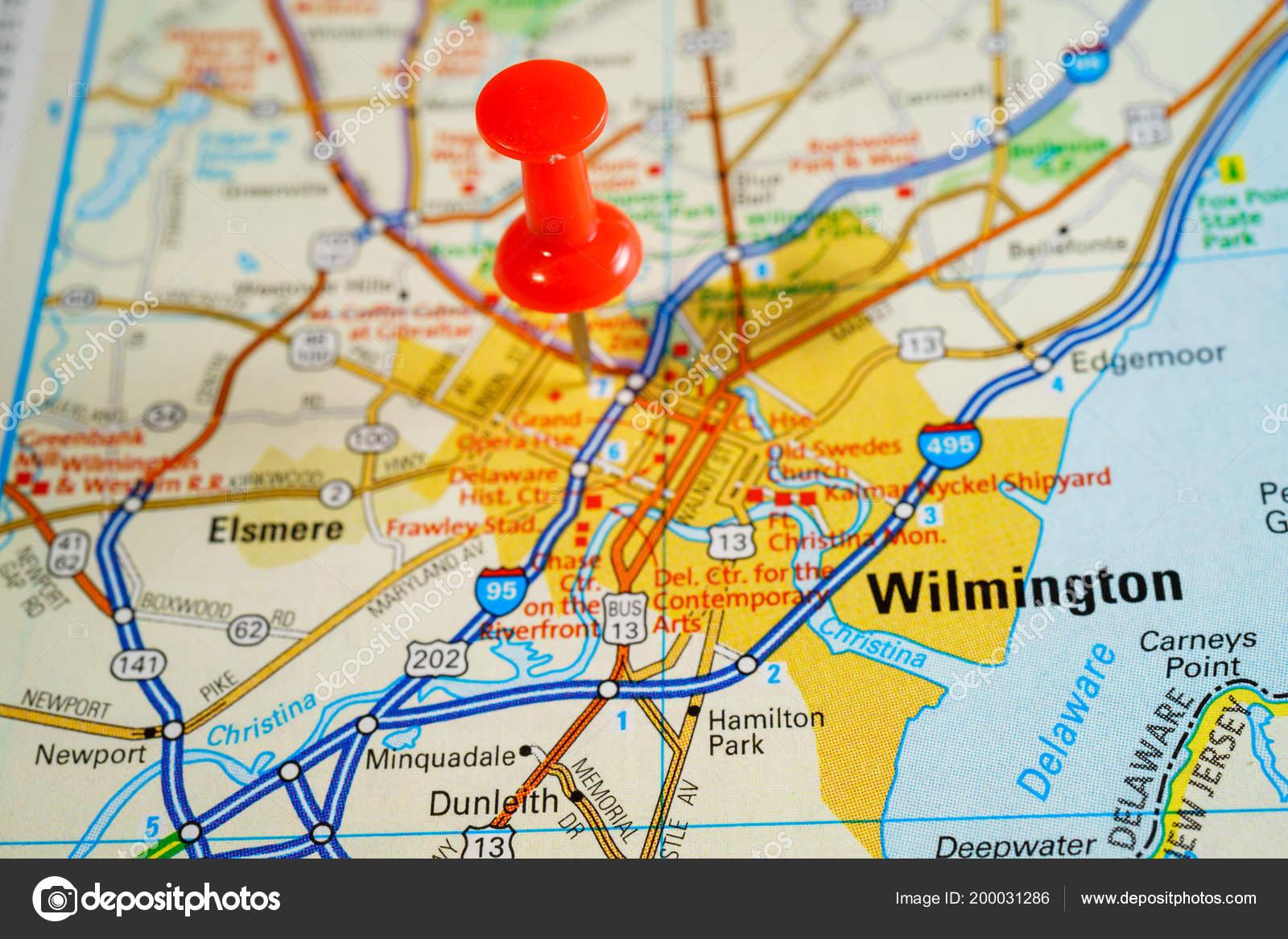 Wilmington United States Map — Stockfoto © aallm #200031286