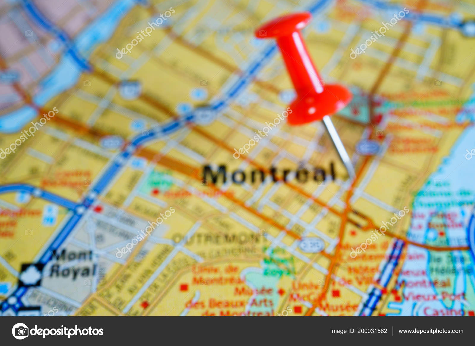 Canada Map Montreal.Montreal Canada Map Stock Photo C Aallm 200031562