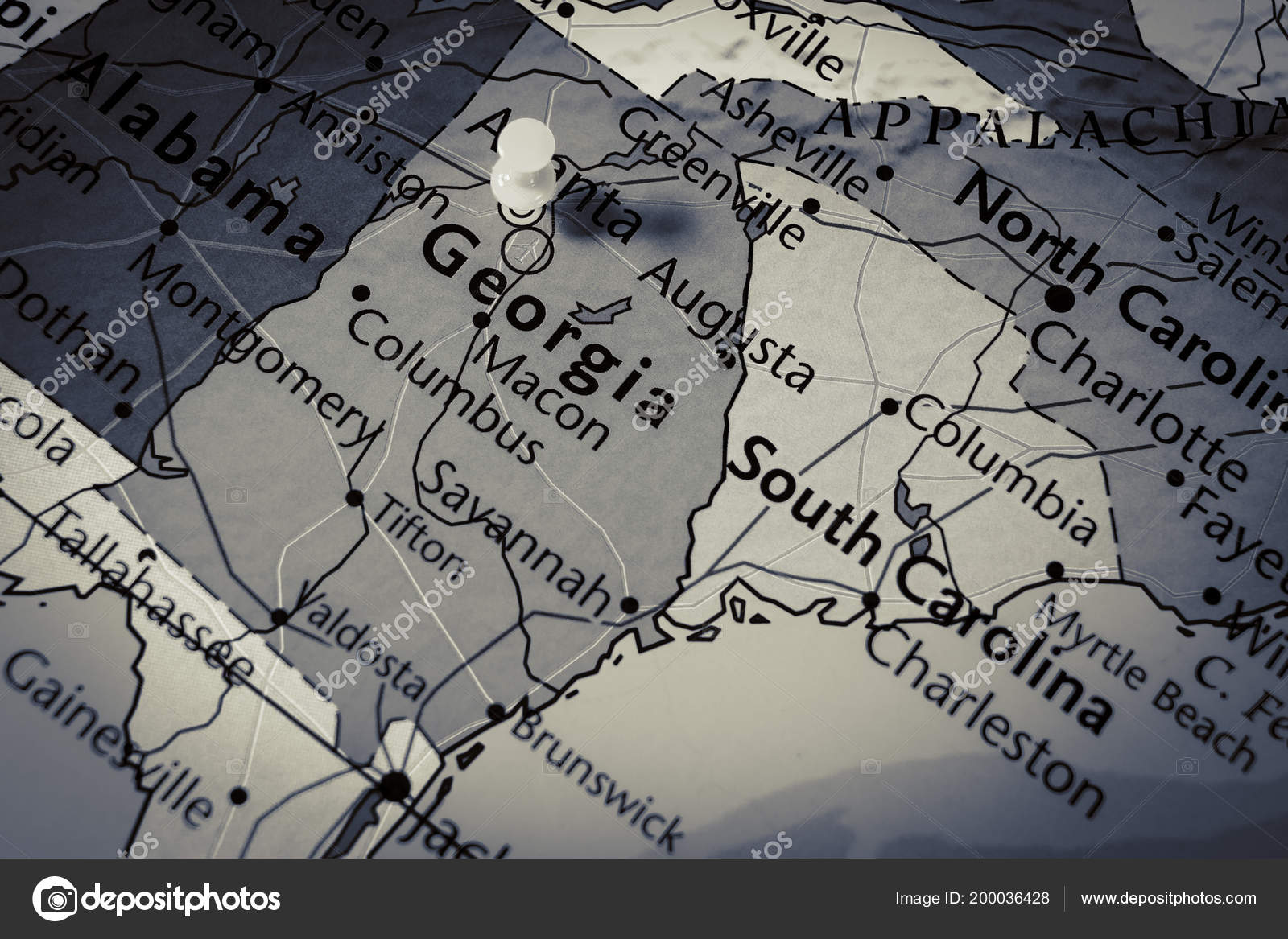 Map Of State Of Georgia Usa.State Georgia Map Usa Stock Photo C Aallm 200036428