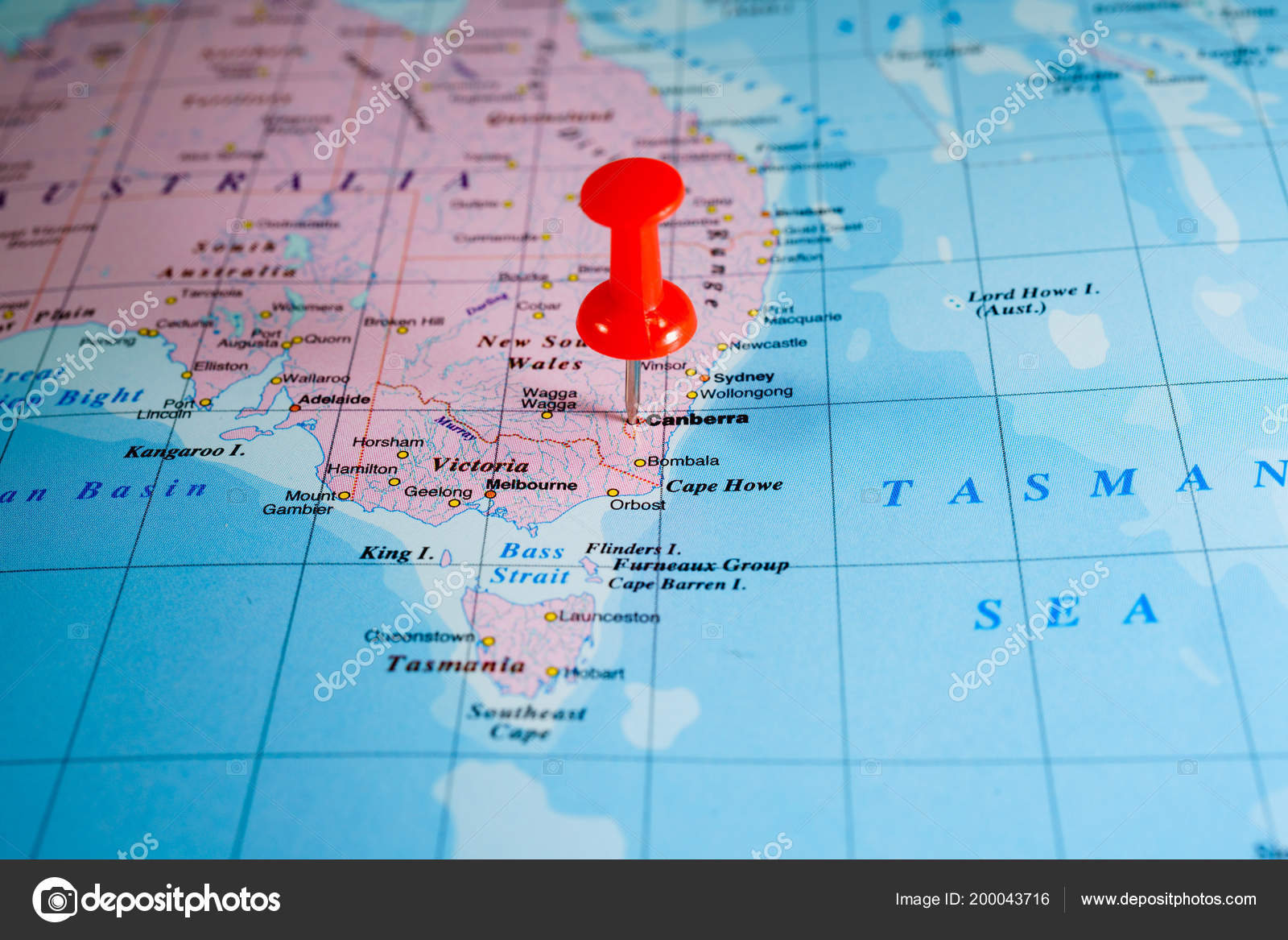 Map Australia World Map Stock Photo C Aallm 200043716