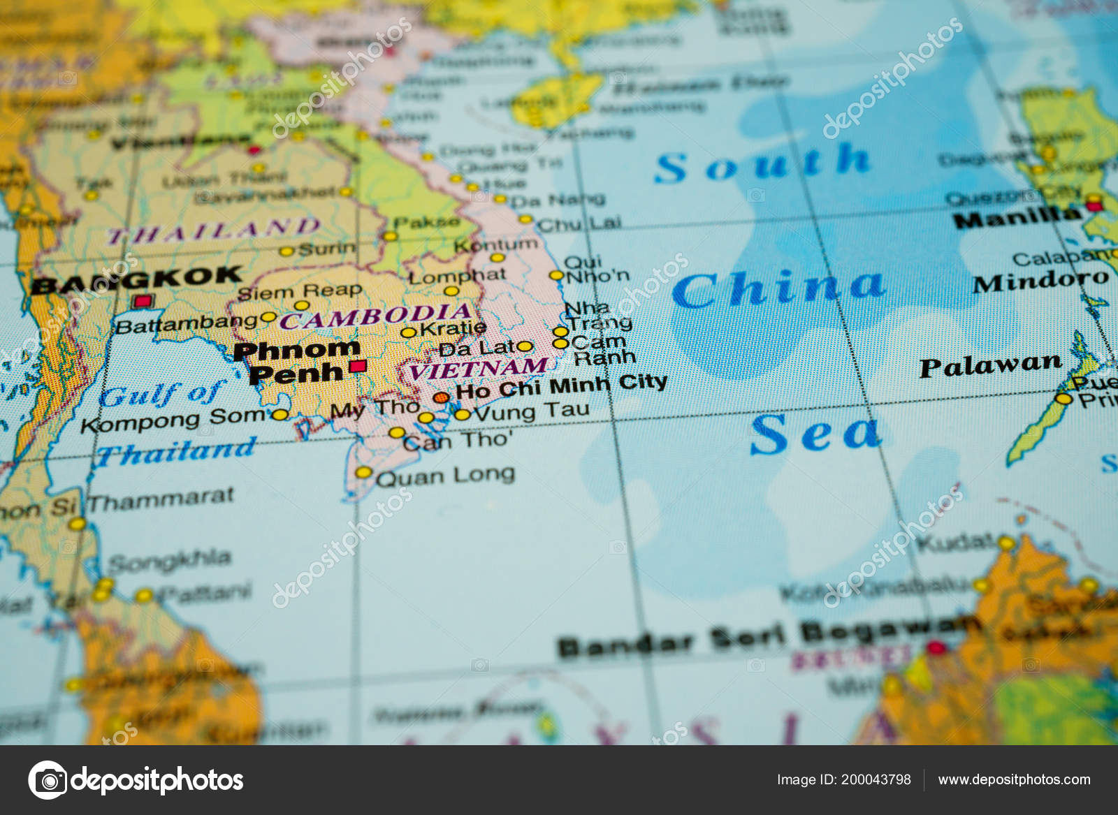 The Map Of Southeast Asia.Southeast Asia Map Stock Photo C Aallm 200043798