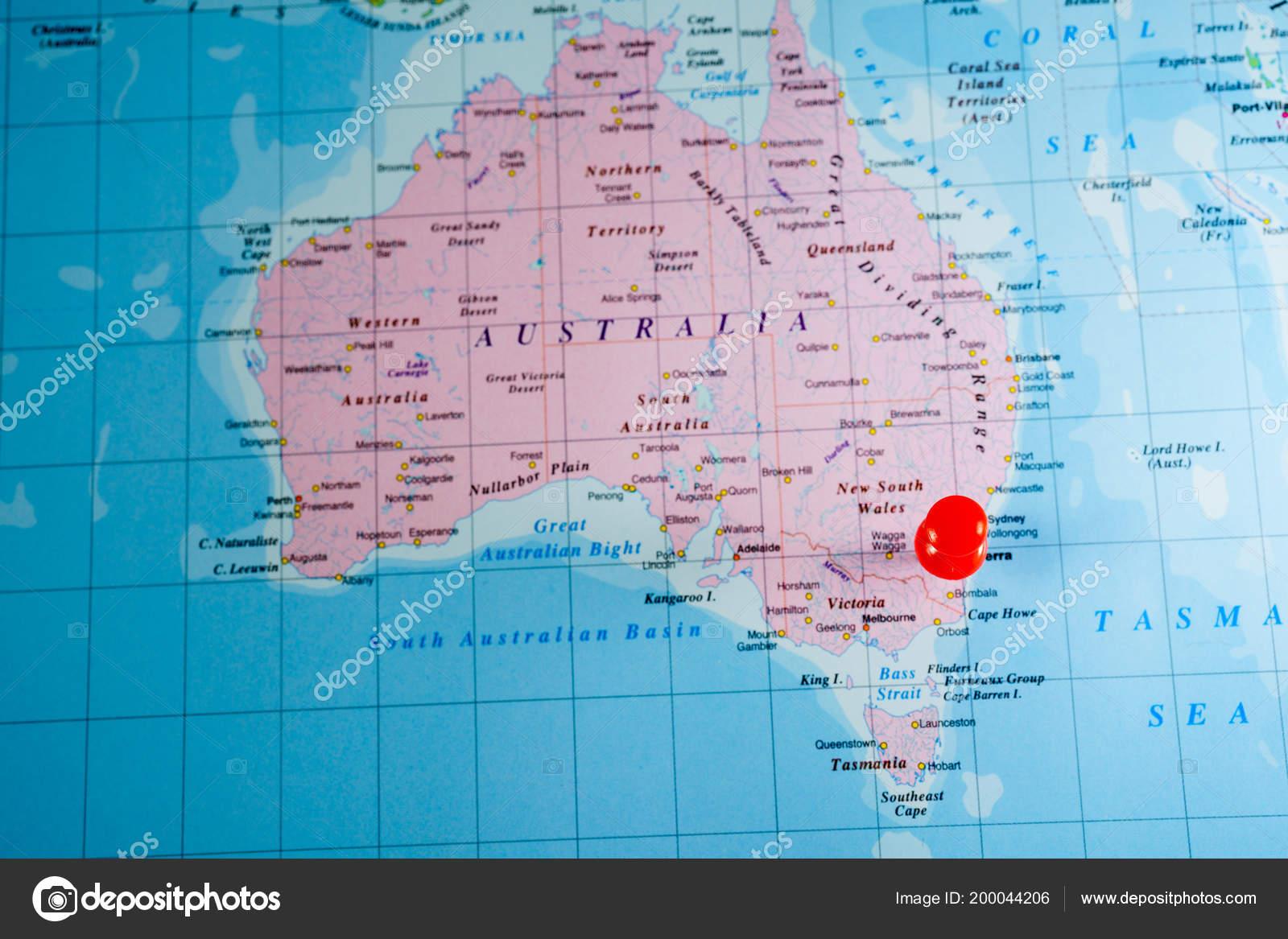 Map Australia World Map Stock Photo C Aallm 200044206