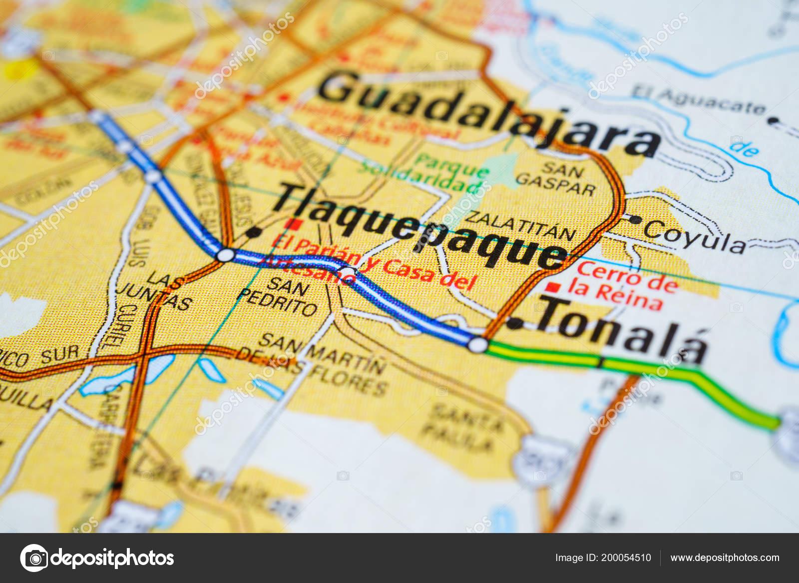 Vinnitsa Ucrania Enero 2017 Guadalajara Mexico Mapa Foto Editorial