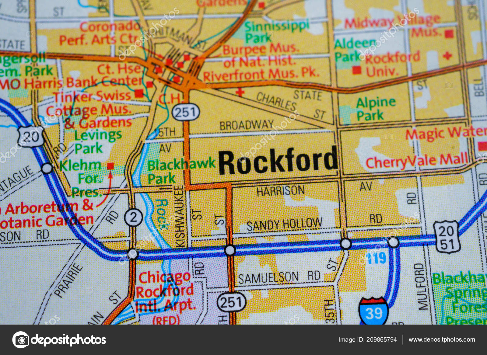 Map Of America Rockford.Rockford Usa Map Stock Editorial Photo C Aallm 209865794