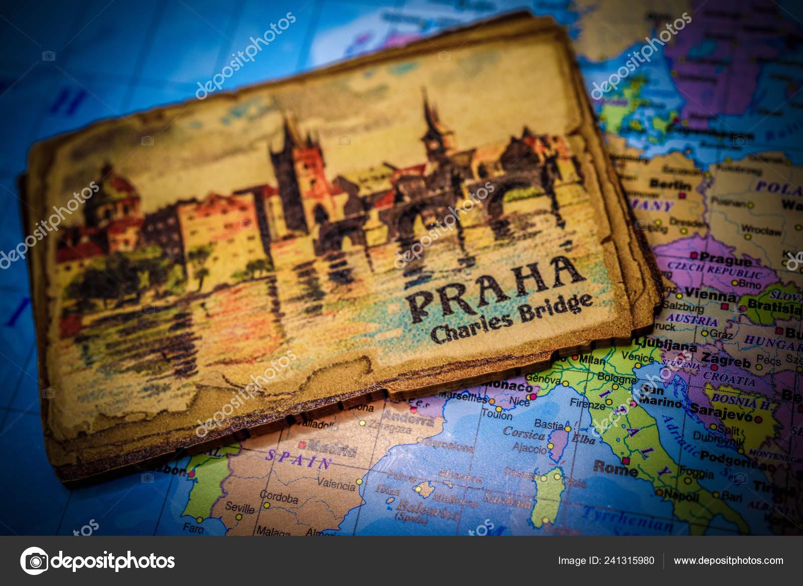Souvenir Prague Magnet Map Europe – Stock Editorial Photo © aallm ...