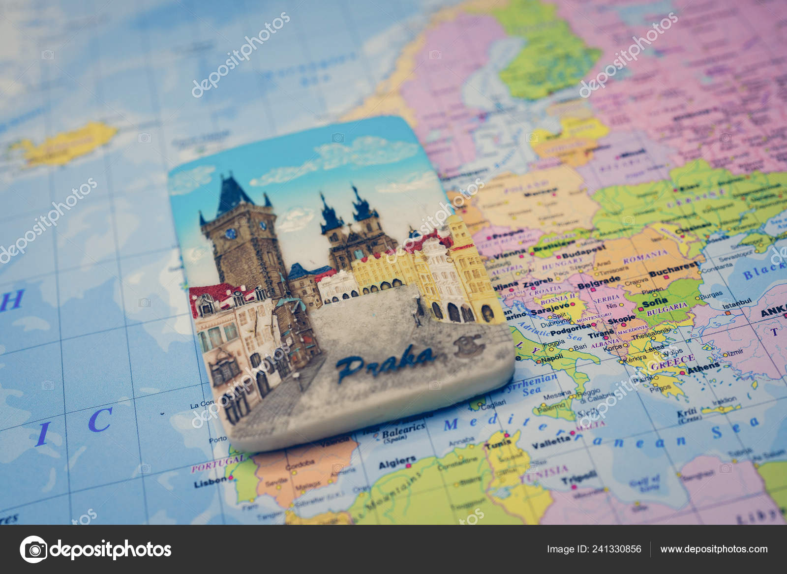 Souvenir Prague Magnet Map Europe Stock Editorial Photo C Aallm