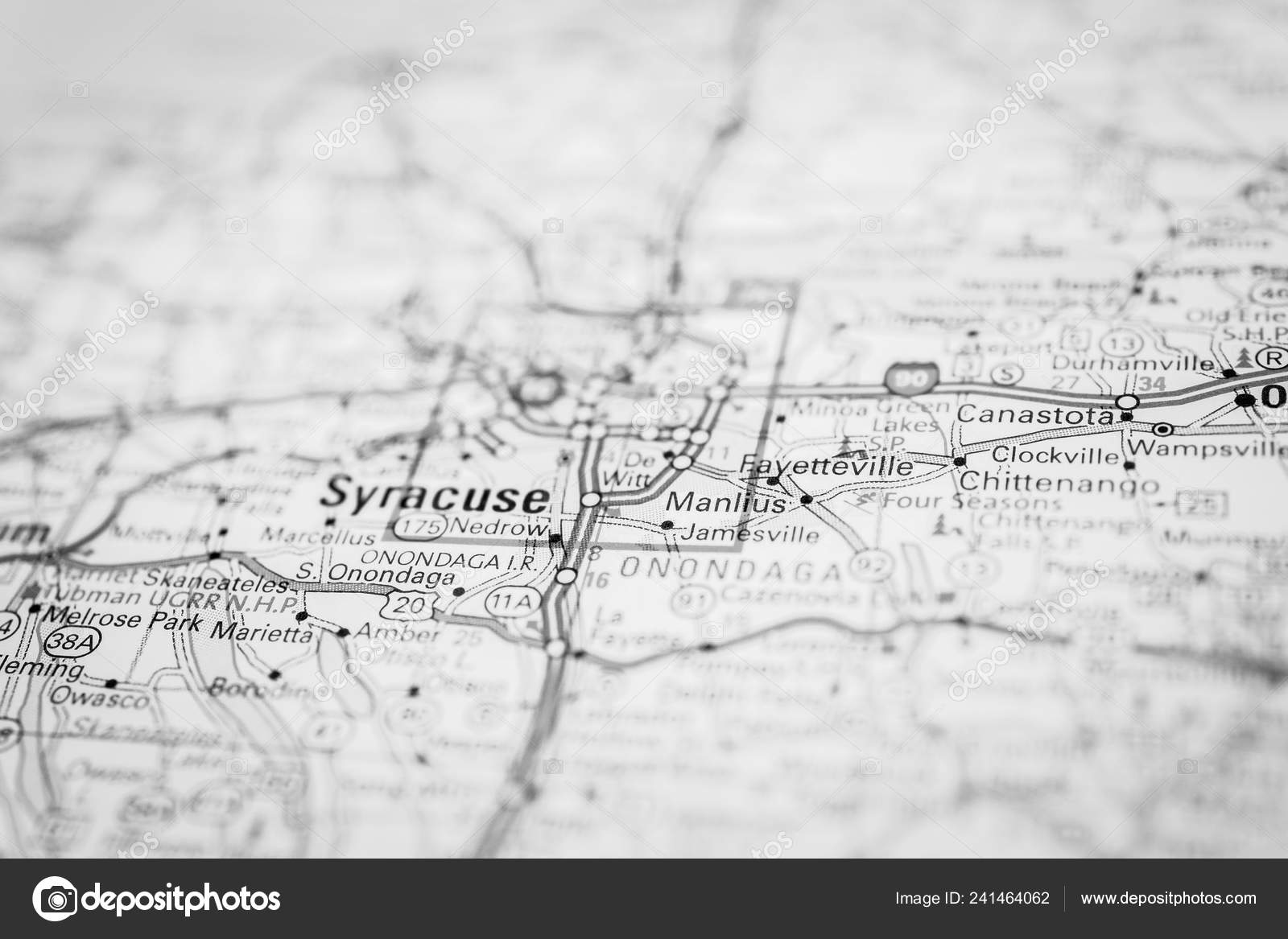 Syracuse Map Stock Photo C Aallm 241464062