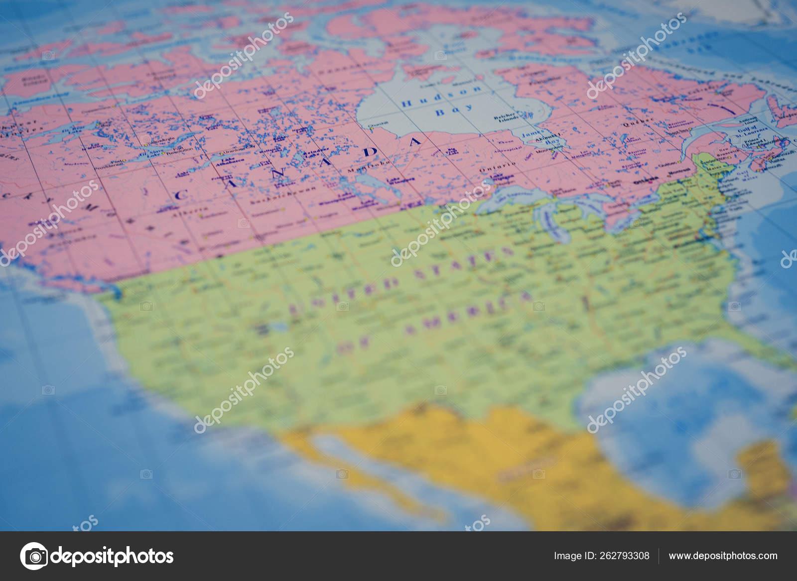 North America on the world map — Stockfoto © aallm #262793308