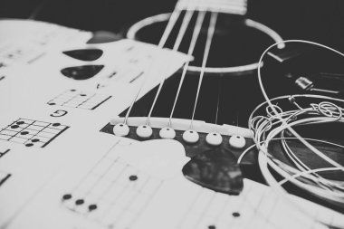 guitar and chords background