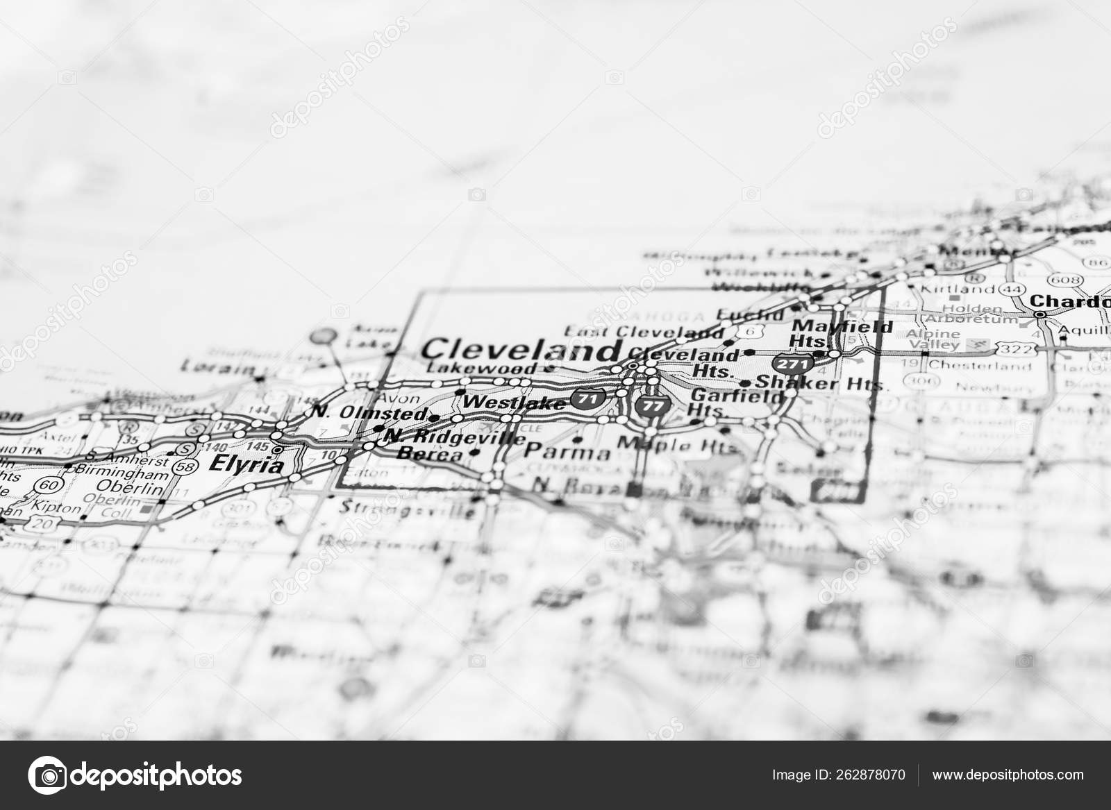 Cleveland USA map — Stock Photo © aallm #262878070 on