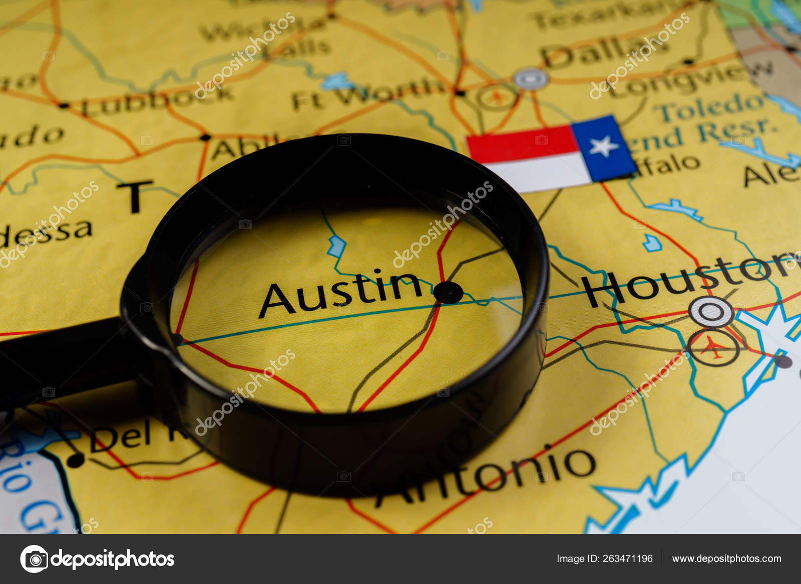Texas State on the map – Stock Editorial Photo © aallm