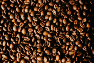 Coffee beans on the table background