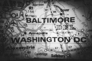 Washington DC on the map