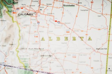Alberta state on the map
