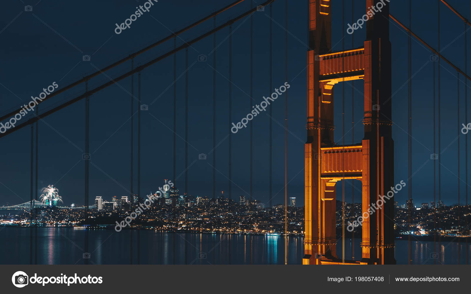 fire work happy new year 2018 twin peaks san francisco stock photo