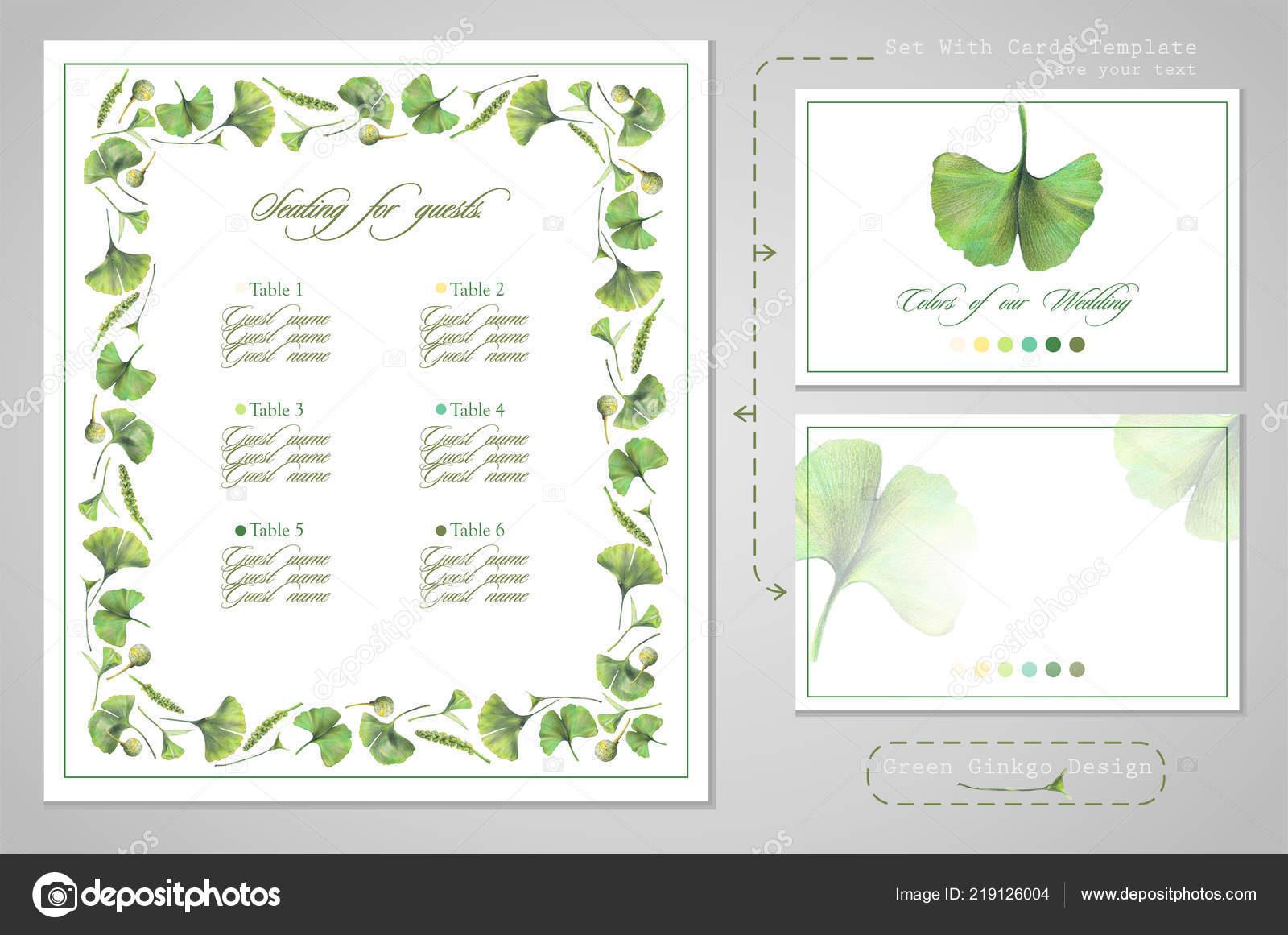 Set Wedding Printing Seating Guests Invitations Card Dress