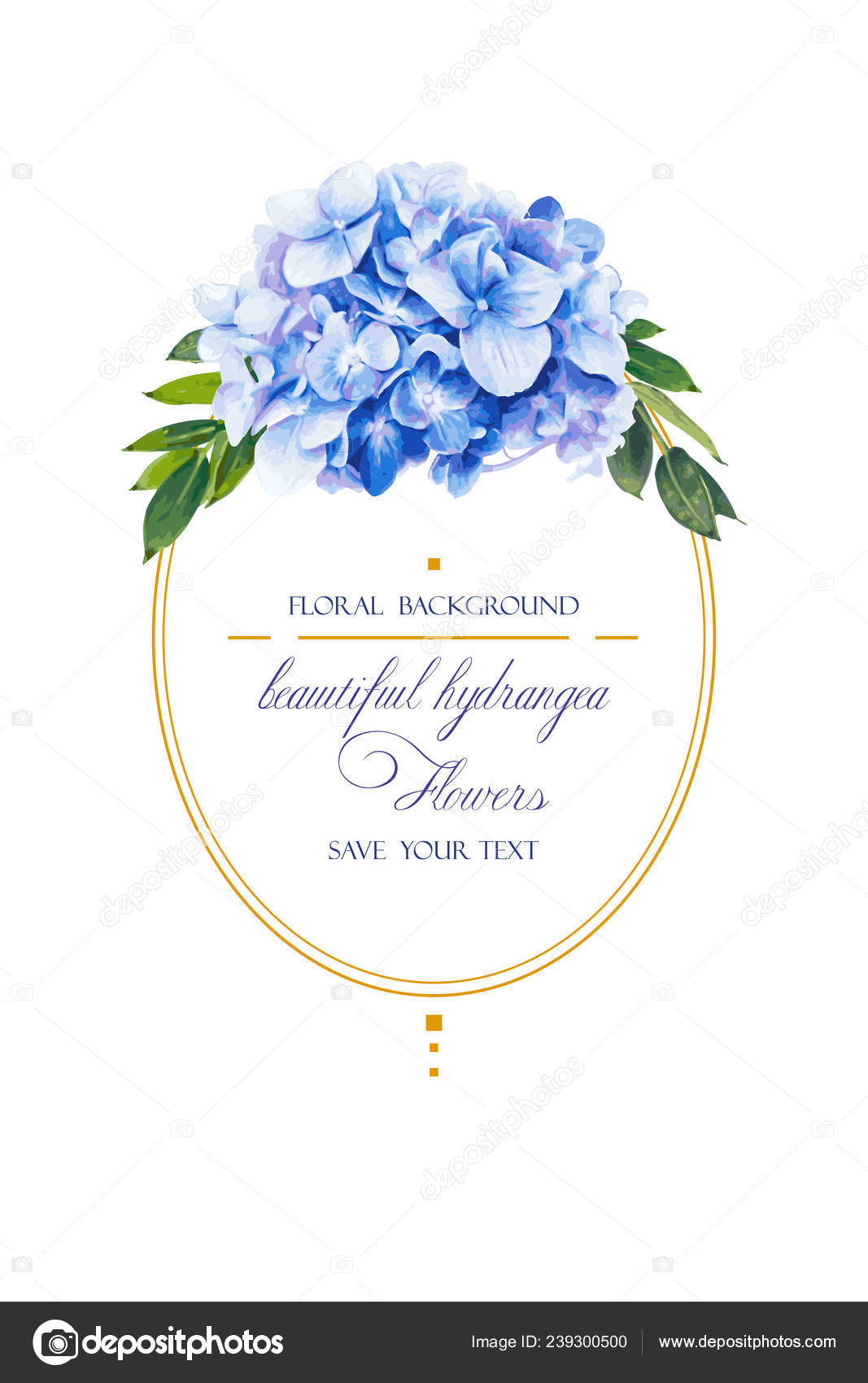 blue invitation background template