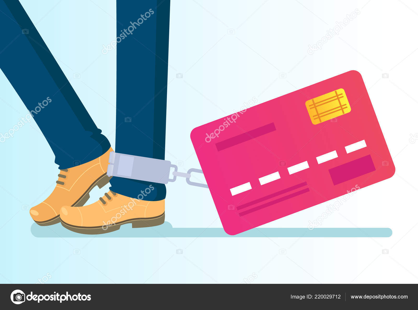 Velky Kreditni Karty Vazano Noze Retezy Penize Kreditni Bohatstvi