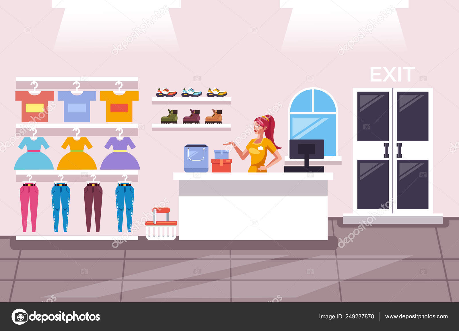 bab48858513a Tienda Ropa Tienda Showroom Para Niña Dama Mujer Concepto Servicio ...