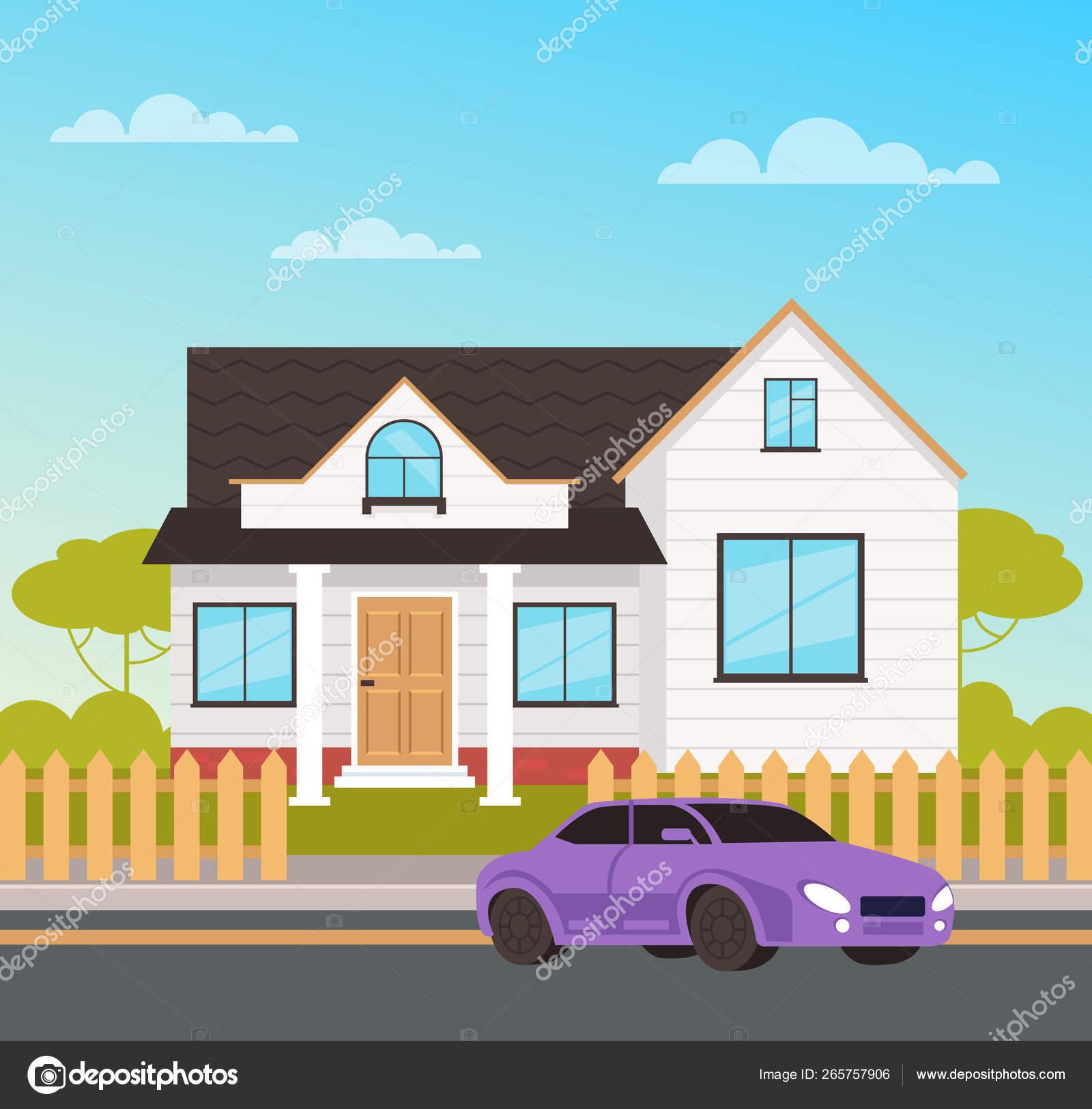Big Family House Cottage Concept Vector Design Flat Graphic Cartoon Stock Vector C Prettyvectors 265757906