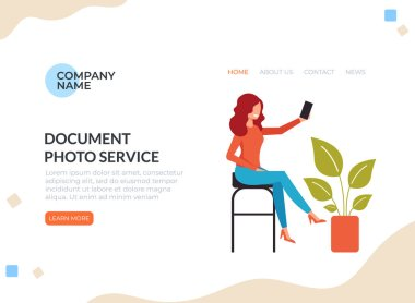 Photo documents concept. Vector graphic design flat cartoon illustration