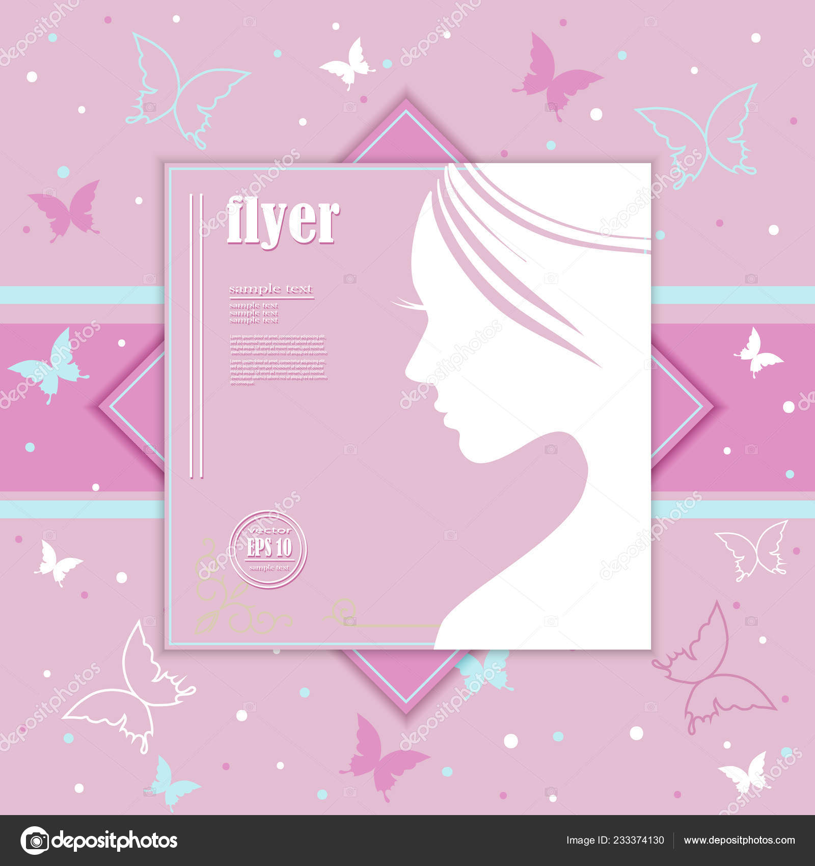 Beautiful Girl Silhouette Colorful Hair Vector Background Abstract Design Concept Stock Vector C Nemetse 233374130