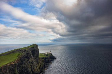 Storm clouds roll by Neist Point Lighthouse