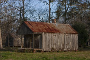 Slave quarters at the Laurel Valley Sugar Plantation
