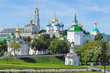 Temples, sobry, churches and monastery in the Holy Trinity Sergius Lavra in Sergiev Posad, Russia