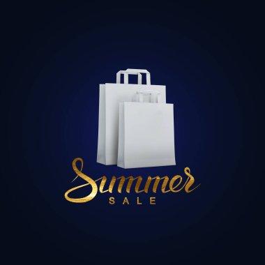 Golden promotional sale label