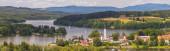 Frymburk, Tschechische Republik - Stadt auf einer Halbinsel am linken Ufer des Lipno-Stausees