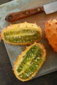preparing fresh healthy  melon