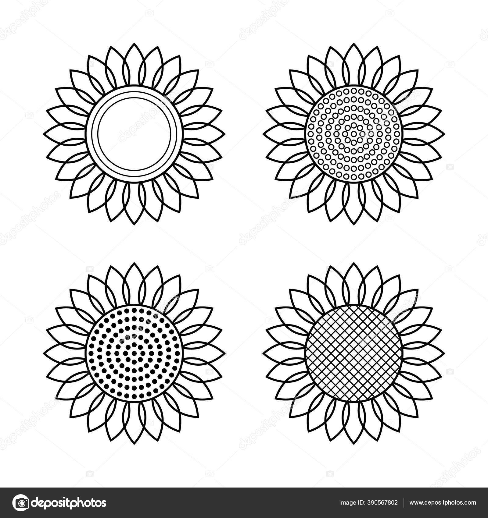 Set Ikon Bunga Matahari Ilustrasi Vektor Hitam Putih Garis Garis Hitam Sederhana Elemen Terisolasi Pada Latar Belakang Putih Untuk Desain Spanduk Dekorasi Logo Label Stiker Kartu Cetakan Dll Stok Vektor C Viktoria 888 390567802