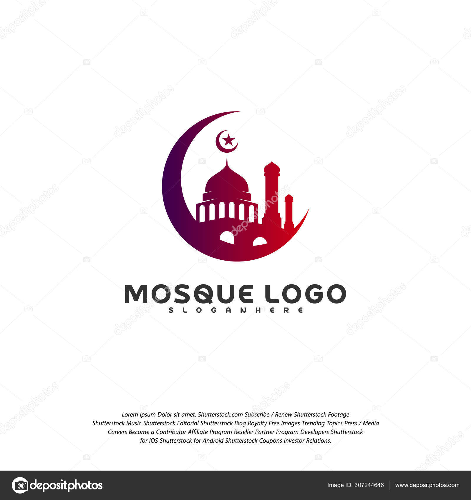Islamic Logo Design Vector Mosque Logo Template Muslims Learn Logo Templates Stock Vector C Shuttersport 307244646