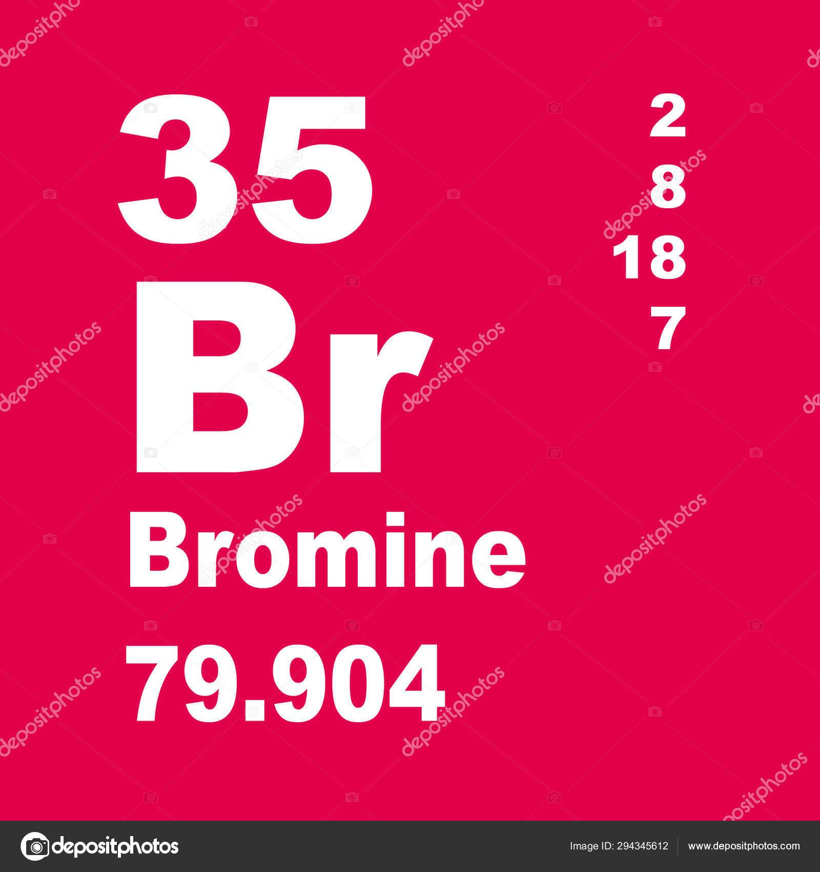 Bromine Periodic Table Elements Stock Photo C Imwaltersy
