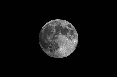 Full Moon photographed through a telescope