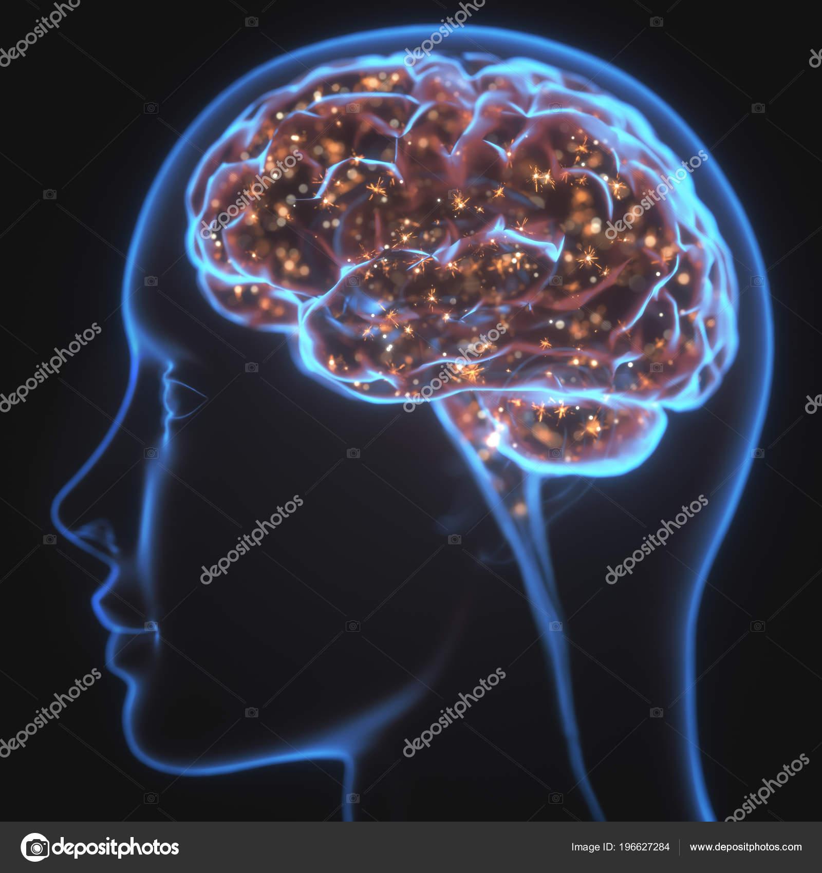 stříkající v mozku