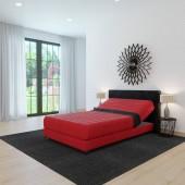 Ložnice v bytě. Panoramatická okna. Moderní design