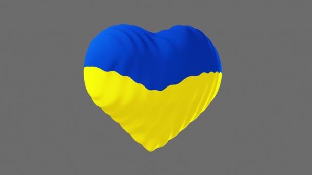 Vlajka Spojených států ve tvaru srdce. 3D animace