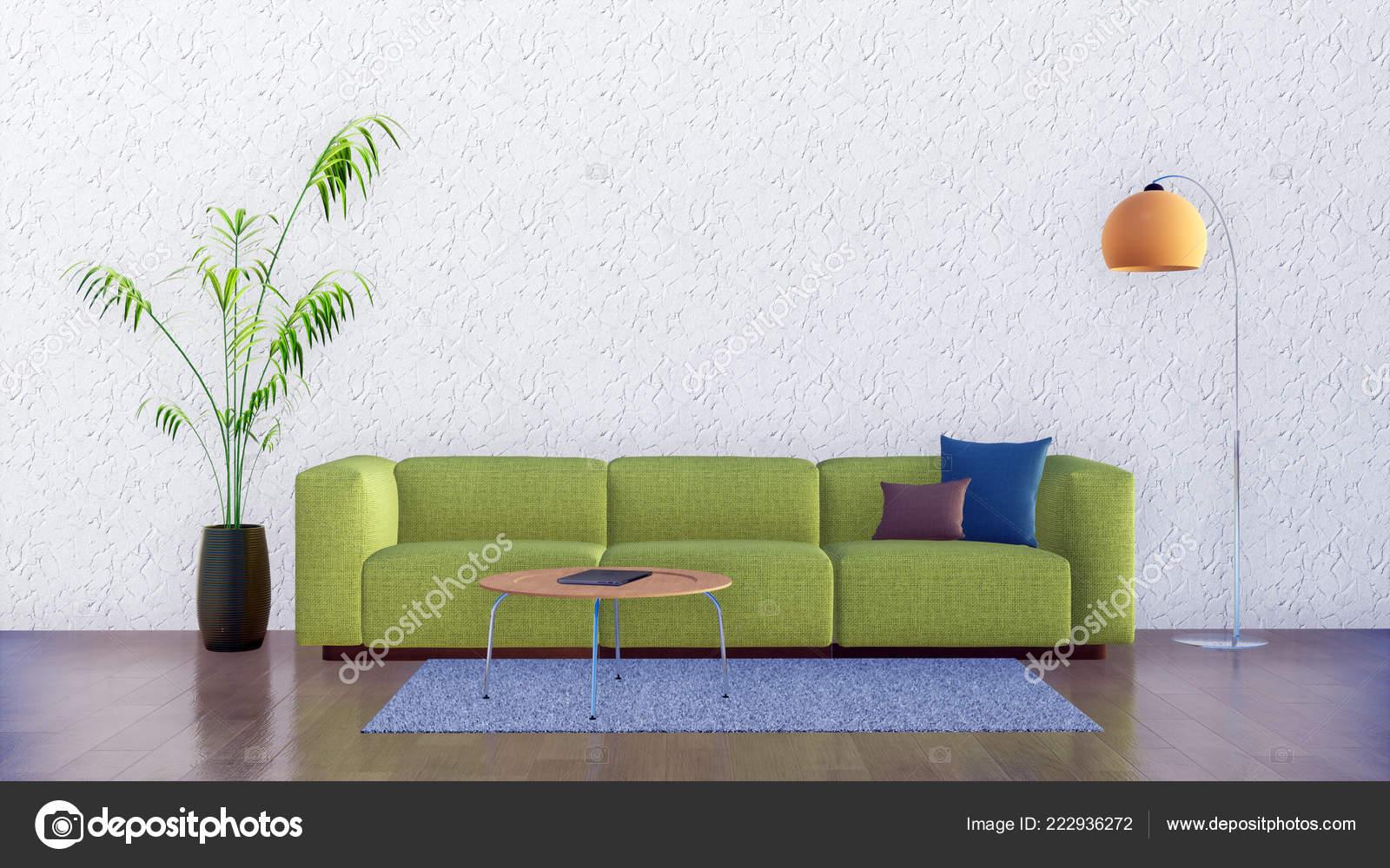 Bright Living Room Interior Modern Minimalist Design Style ...