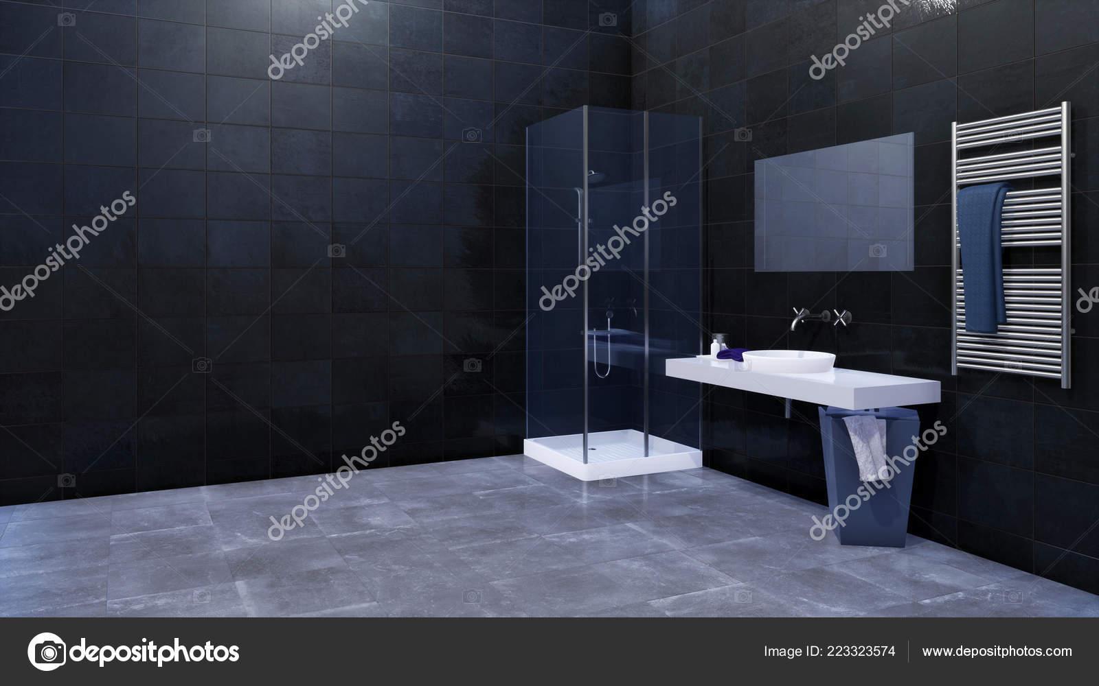 Diseño Interiores Moderno Cuarto Baño Minimalista Con ...